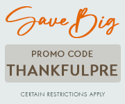 Save with promo code THANKFULPRE